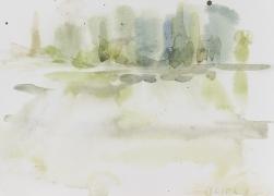 Am Ufer, 2018, 17 x 24 cm, Aquarell