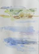 An der Elbe, 2017, 24 x 17 cm, Aquarell