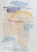 Gewitter an der Elbe, 2017, 24 x 17 cm, Aquarell