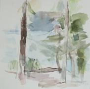 Hellsee III, 2011, 30 x 30 cm;  Aquarell