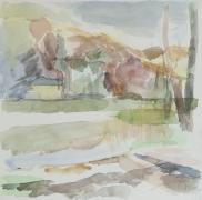 Hellsee IV, 2011, 30 x 30 cm;  Aquarell
