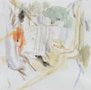 Hohlweg, 2016, Aquarell, 30 x 30 cm