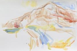 Montagne Sainte Victoire, 2017, 24 x 36 cm, Aquarell