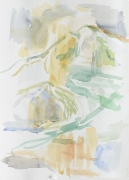 Montagne Sainte Victoire II, 2017, 36 x 24 cm, Aquarell