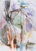 Pinien, Puyloubier, 2019, 24 x 17 cm, Aquarell
