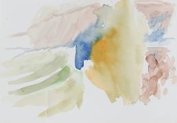 Sainte Victoire, morgens, 2018, 17 x 24 cm, Aquarell