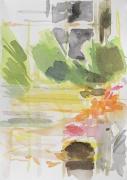 o.T. (Gegenüber), 2020, 17 x 24 cm, Aquarell
